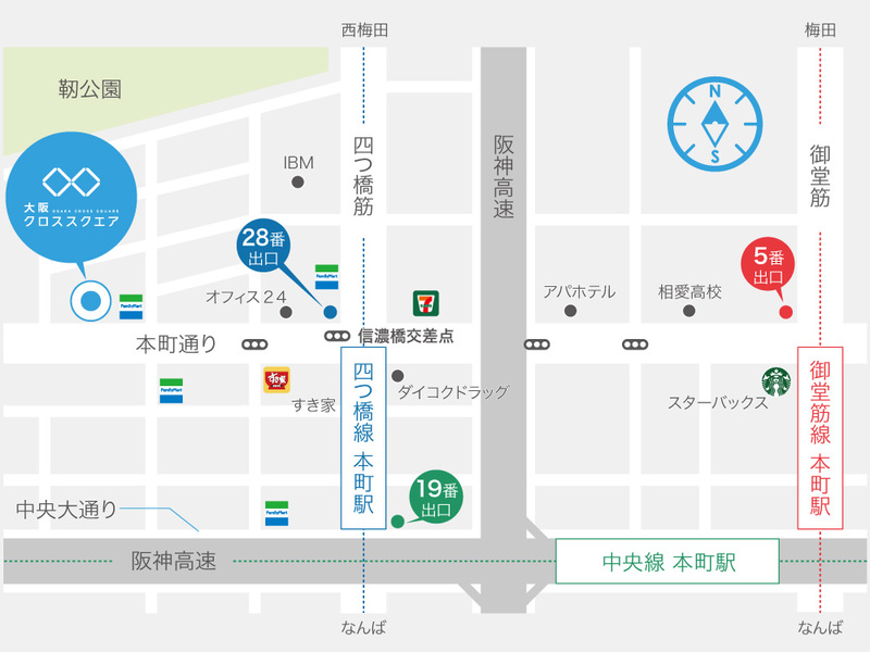 大阪クロススクエア地図