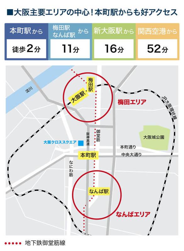 大阪クロススクエア アクセス